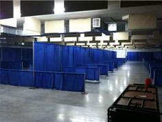The exhibit hall is a great space for your next indoor event.